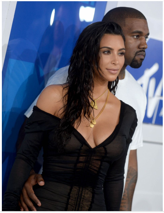 Kim Kardashian avec son mari kanye West